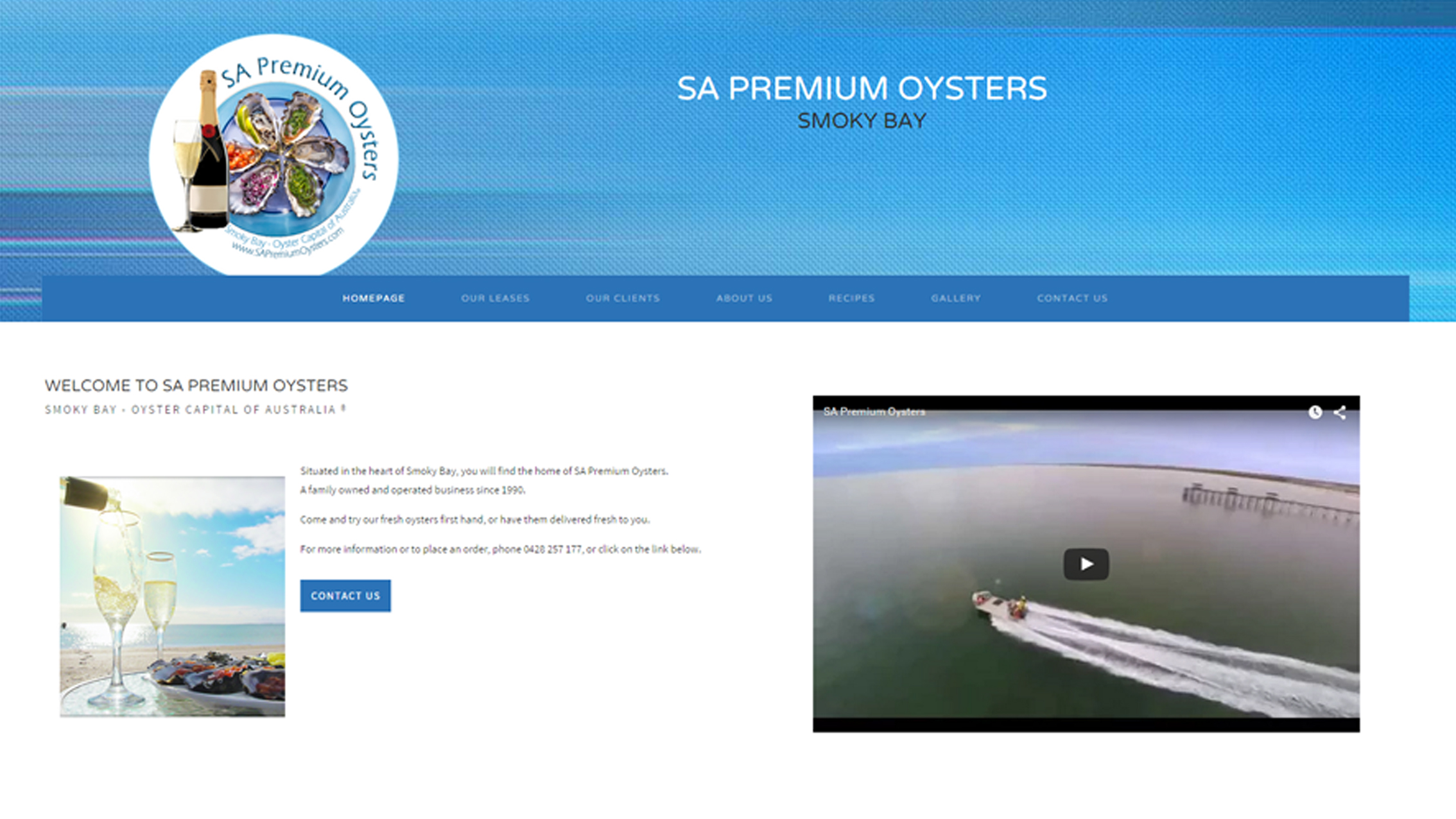 SA Premium Oysters Eye Dropper Designs - Adelaide Website Agency