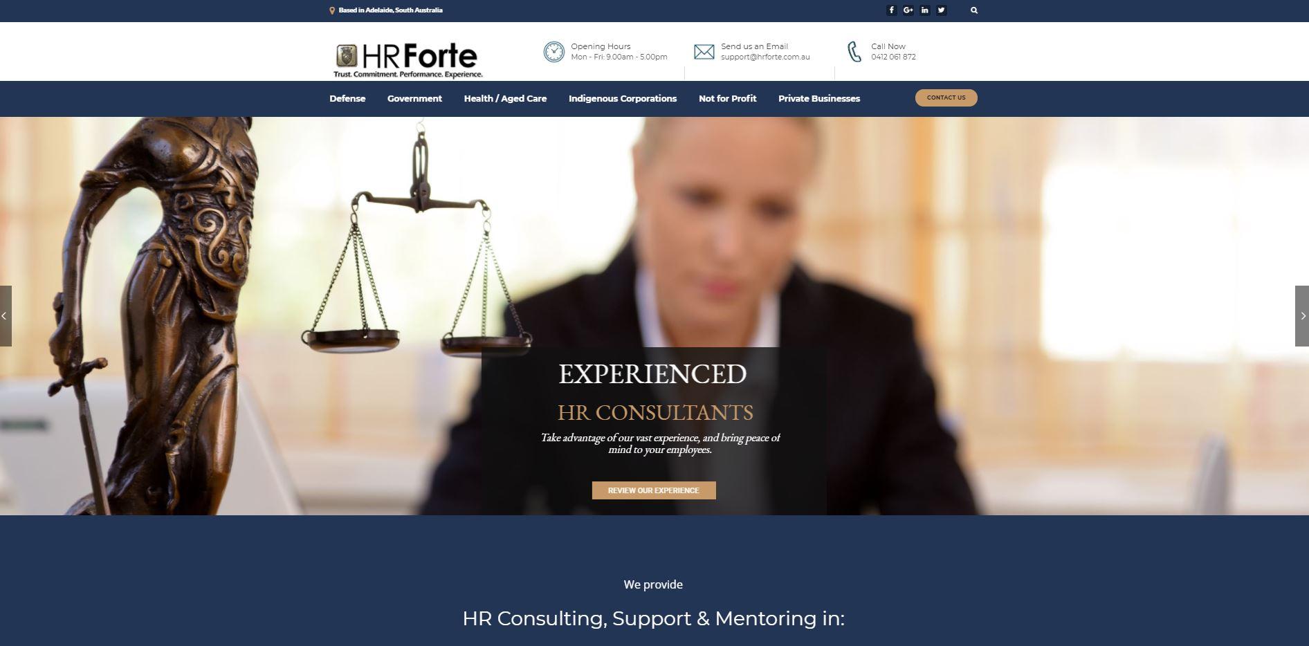 HR Forte - Eye Dropper Designs - Adelaide Website Agency