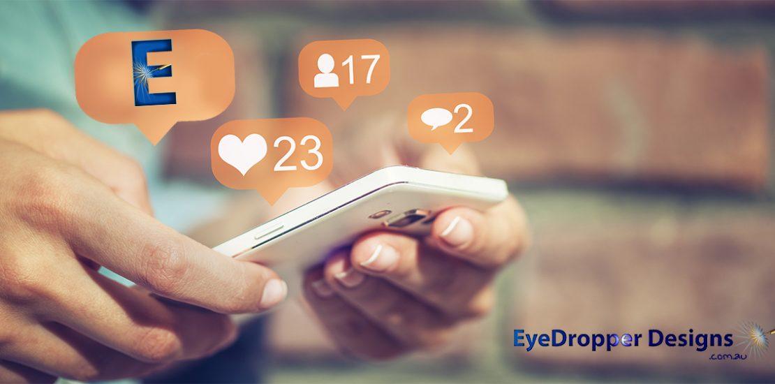 Eye Dropper Designs - website exposure - mobile device